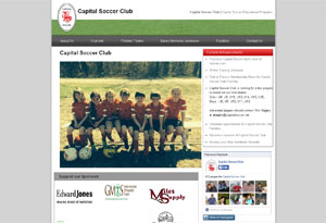 Capital Soccer Club Website Preview