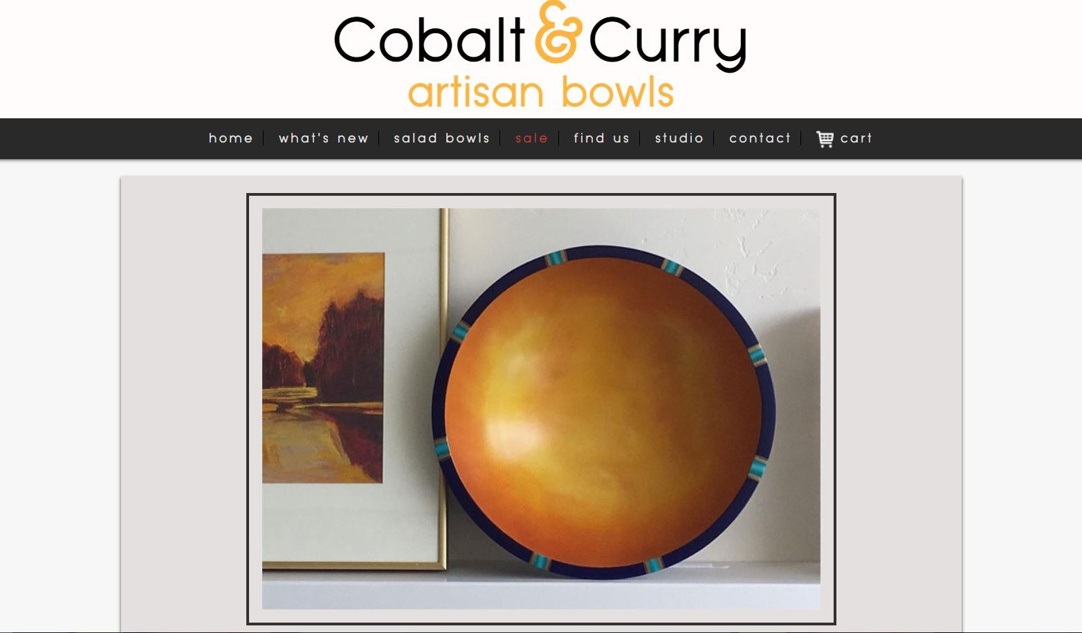 Cobalt & Curry Website Preview