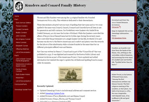 Conard Family History Website Preview