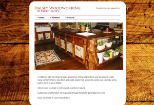 Halsey Woodworking Website Preview