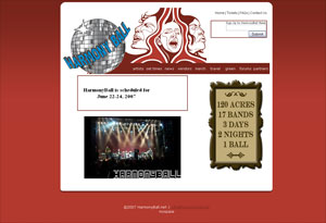 Harmony Ball Website Preview