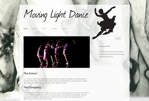 Moving Light Dance Website Preview