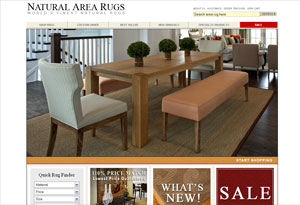 Natural Area Rugs Website Preview
