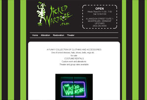 The Wicked Wardrobe Website Preview
